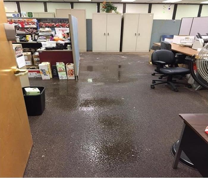 Water Damage in Commercial Building Before
