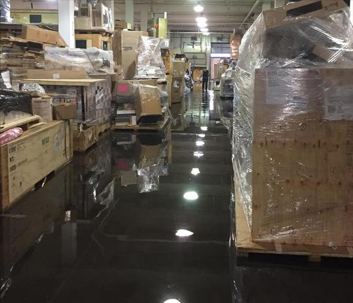 Water Damage to Commercial Business in Eddystone,PA Before