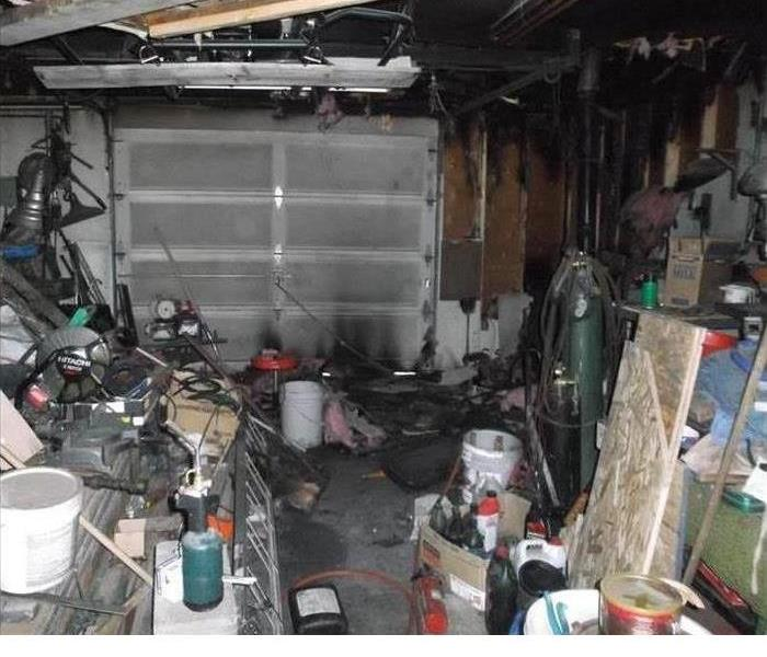 Garage Fire Before