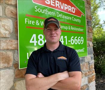photo of young man in SERVPRO
