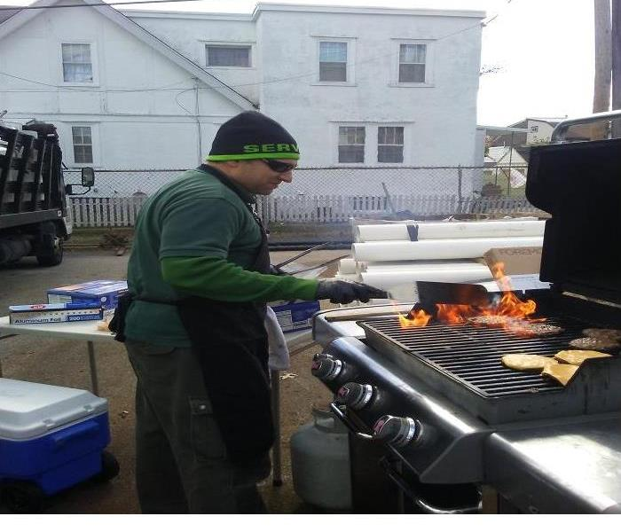 Anthony on the grill