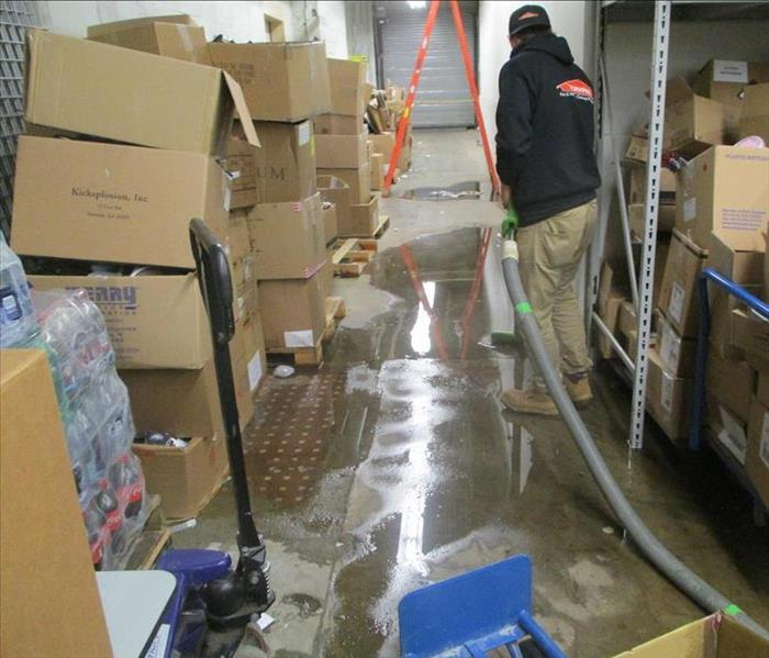 Water Damage in Commercial Coat Factory