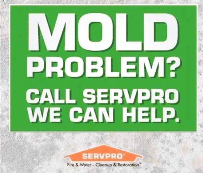 Mold cleanup advertisement for SERVPRO